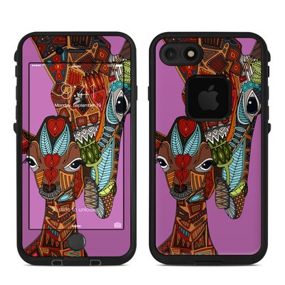Lifeproof iPhone 7 Fre Case Skin - Giraffe Love