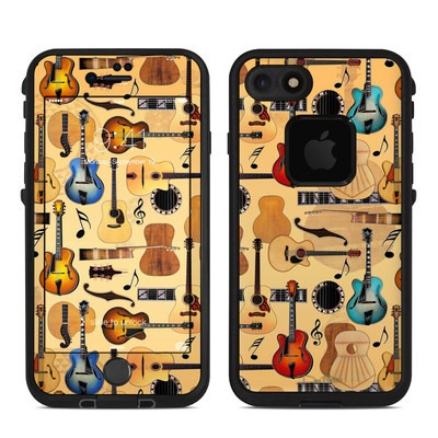 Lifeproof iPhone 7 Fre Case Skin - Guitar Collage