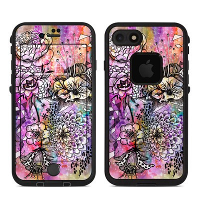 Lifeproof iPhone 7 Fre Case Skin - Hot House Flowers