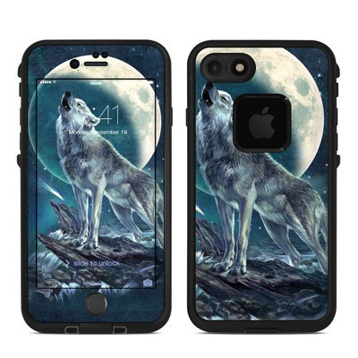 Lifeproof iPhone 7 Fre Case Skin - Howling Moon Soloist