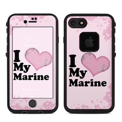 Lifeproof iPhone 7 Fre Case Skin - I Love My Marine