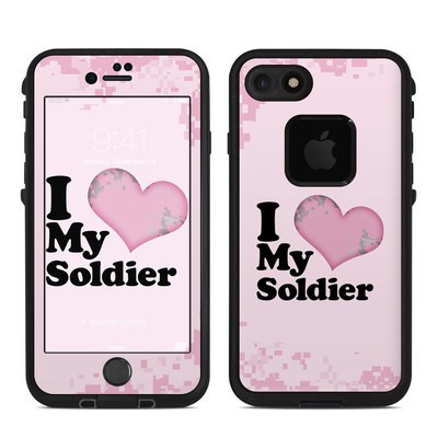 Lifeproof iPhone 7 Fre Case Skin - I Love My Soldier
