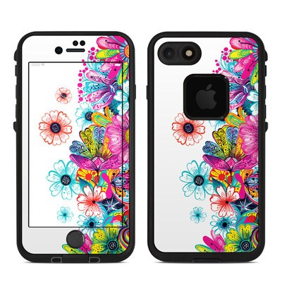 Lifeproof iPhone 7-8 Fre Case Skin - Intense Flowers