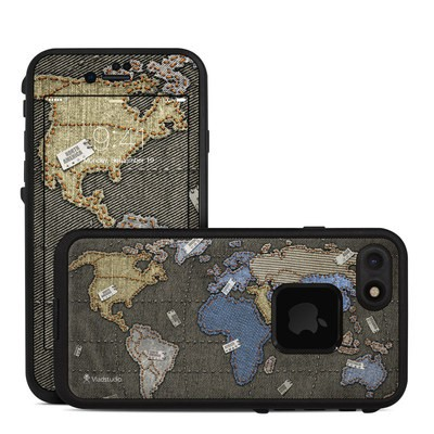 Lifeproof iPhone 7 Fre Case Skin - Jean Map