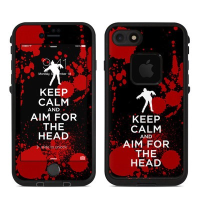 Lifeproof iPhone 7 Fre Case Skin - Keep Calm - Zombie