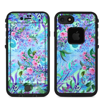 Lifeproof iPhone 7 Fre Case Skin - Lavender Flowers