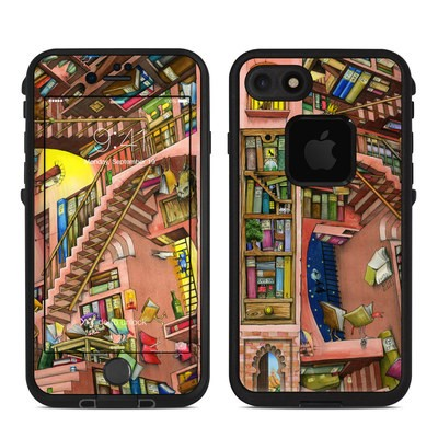 Lifeproof iPhone 7 Fre Case Skin - Library Magic