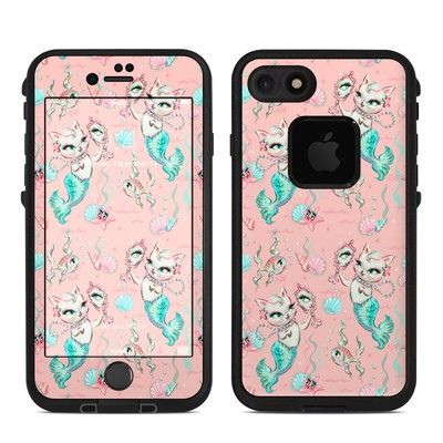 Lifeproof iPhone 7-8 Fre Case Skin - Merkittens with Pearls Blush