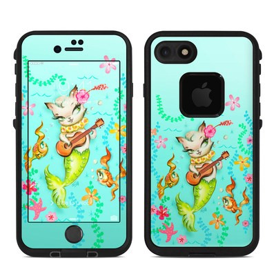 Lifeproof iPhone 7-8 Fre Case Skin - Merkitten with Ukelele