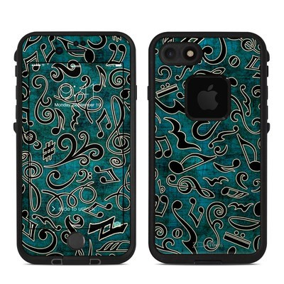Lifeproof iPhone 7 Fre Case Skin - Music Notes