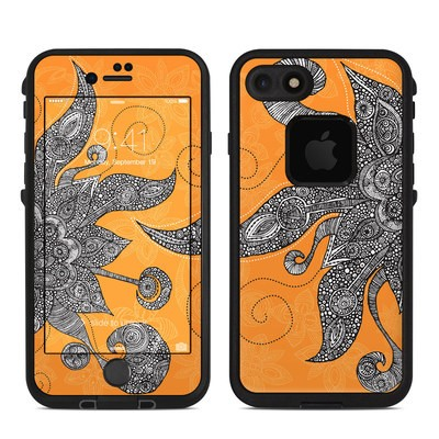 Lifeproof iPhone 7 Fre Case Skin - Orange Flowers