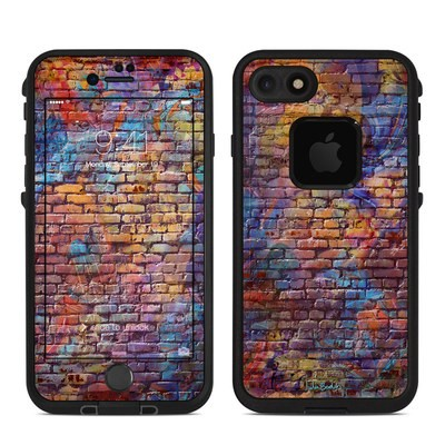 Lifeproof iPhone 7 Fre Case Skin - Painted Brick