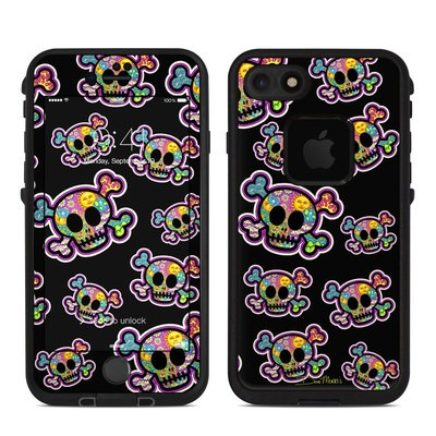 Lifeproof iPhone 7 Fre Case Skin - Peace Skulls