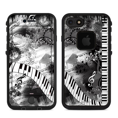 Lifeproof iPhone 7 Fre Case Skin - Piano Pizazz