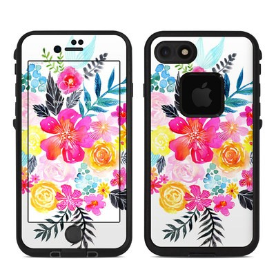 Lifeproof iPhone 7-8 Fre Case Skin - Pink Bouquet