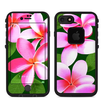 Lifeproof iPhone 7 Fre Case Skin - Pink Plumerias