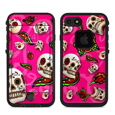 Lifeproof iPhone 7 Fre Case Skin - Pink Scatter