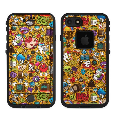 Lifeproof iPhone 7 Fre Case Skin - Psychedelic