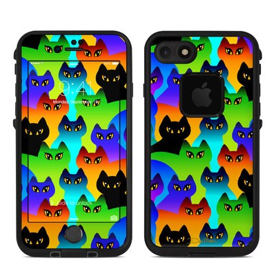 Lifeproof iPhone 7 Fre Case Skin - Rainbow Cats