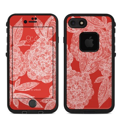 Lifeproof iPhone 7 Fre Case Skin - Red Dahlias