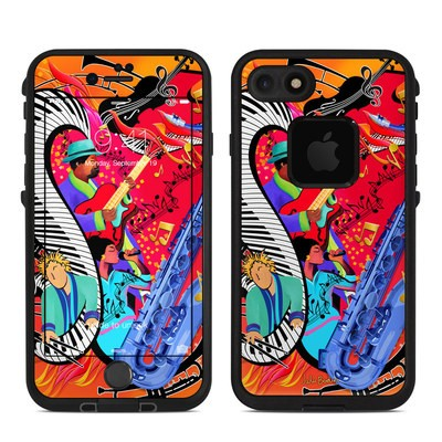 Lifeproof iPhone 7 Fre Case Skin - Red Hot Jazz