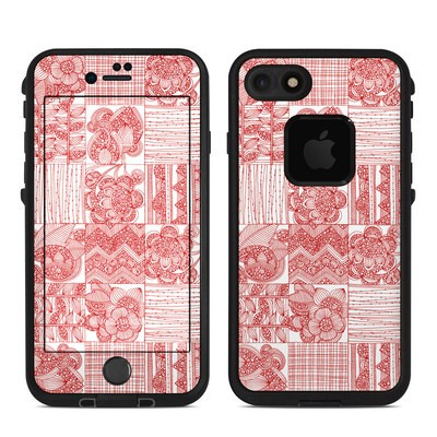 Lifeproof iPhone 7 Fre Case Skin - Red Quilt