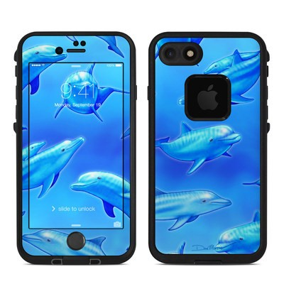 Lifeproof iPhone 7 Fre Case Skin - Swimming Dolphins