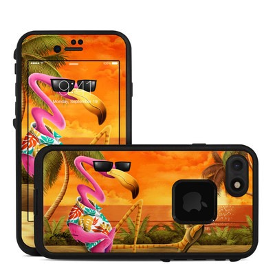 Lifeproof iPhone 7 Fre Case Skin - Sunset Flamingo