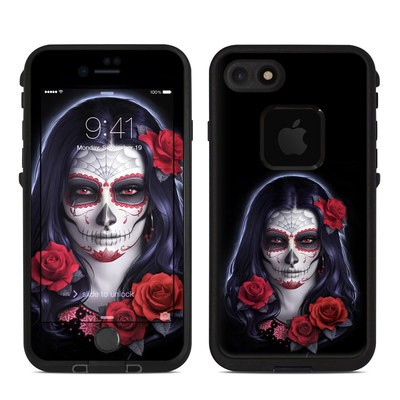 Lifeproof iPhone 7 Fre Case Skin - Sugar Skull Rose