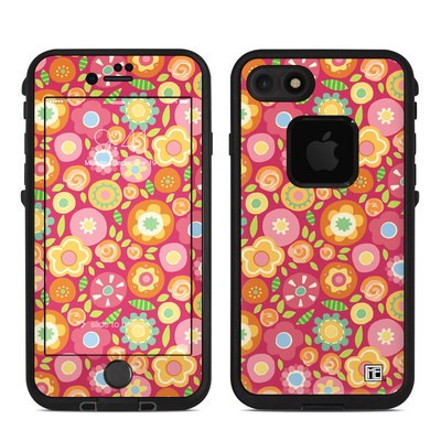 Lifeproof iPhone 7 Fre Case Skin - Flowers Squished