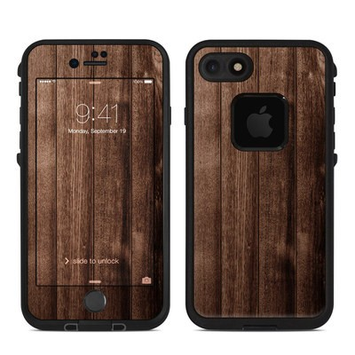 Lifeproof iPhone 7 Fre Case Skin - Stained Wood