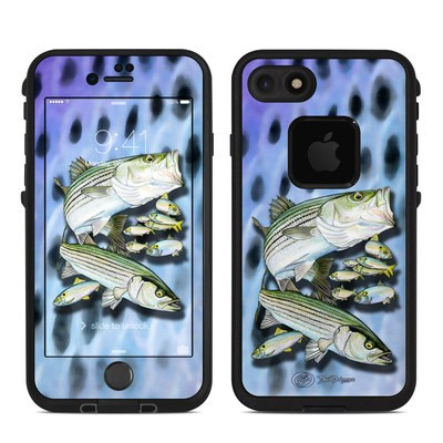 Lifeproof iPhone 7 Fre Case Skin - Striped Bass