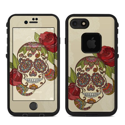 Lifeproof iPhone 7 Fre Case Skin - Sugar Skull