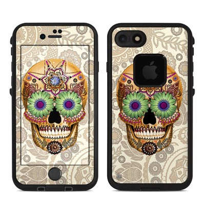 Lifeproof iPhone 7 Fre Case Skin - Sugar Skull Bone