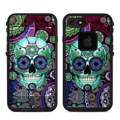 Lifeproof iPhone 7 Fre Case Skin - Sugar Skull Sombrero