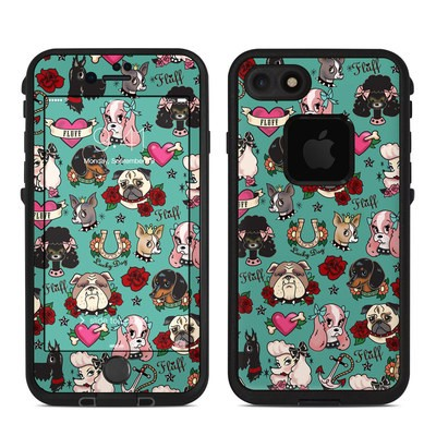 Lifeproof iPhone 7-8 Fre Case Skin - Tattoo Dogs