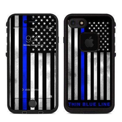 Lifeproof iPhone 7-8 Fre Case Skin - Thin Blue Line