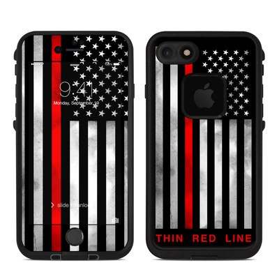 Lifeproof iPhone 7-8 Fre Case Skin - Thin Red Line
