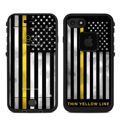 Lifeproof iPhone 7-8 Fre Case Skin - Thin Yellow Line