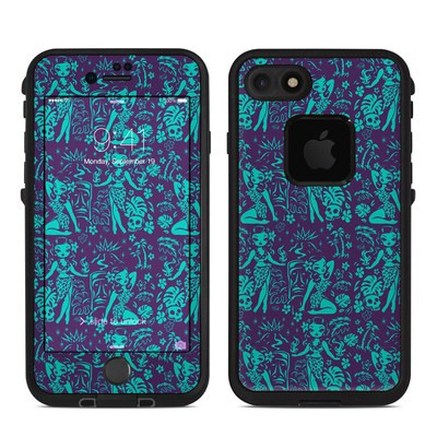 Lifeproof iPhone 7-8 Fre Case Skin - Tiki Temptress Teal
