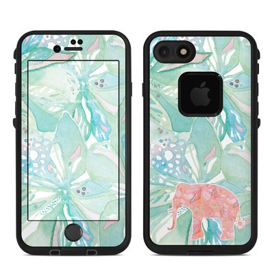Lifeproof iPhone 7 Fre Case Skin - Tropical Elephant