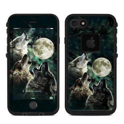 Lifeproof iPhone 7 Fre Case Skin - Three Wolf Moon