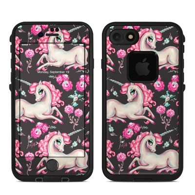 Lifeproof iPhone 7-8 Fre Case Skin - Unicorns and Roses