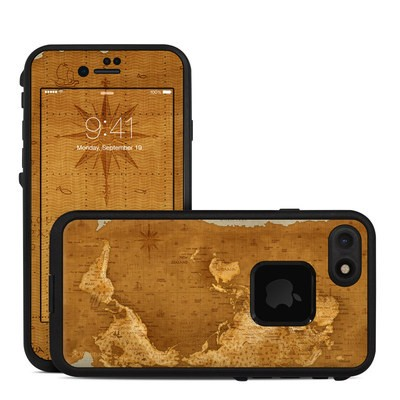 Lifeproof iPhone 7 Fre Case Skin - Upside Down Map