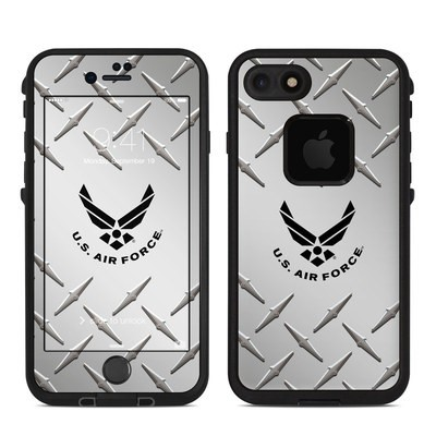 Lifeproof iPhone 7 Fre Case Skin - USAF Diamond Plate