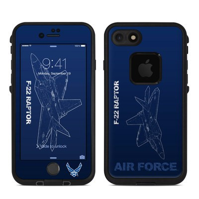 Lifeproof iPhone 7 Fre Case Skin - F-22 Raptor
