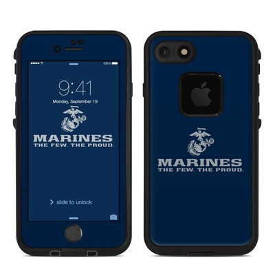 Lifeproof iPhone 7 Fre Case Skin - USMC Blue