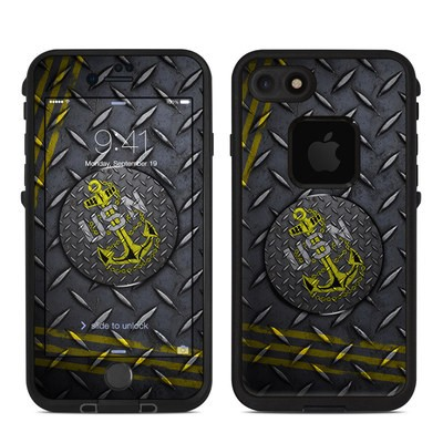 Lifeproof iPhone 7 Fre Case Skin - USN Diamond Plate