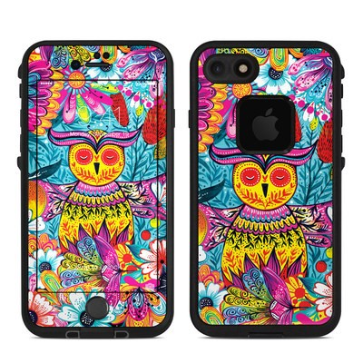 Lifeproof iPhone 7-8 Fre Case Skin - Vivid Owl