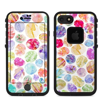 Lifeproof iPhone 7 Fre Case Skin - Watercolor Dots